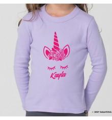Tee-Shirt personnalisé licorne prénom