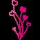 Sticker bouquet de coeur