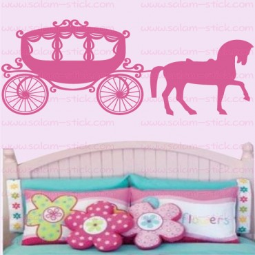 Sticker carrosse de princesse