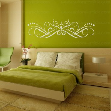 Sticker arabesque tête de lit