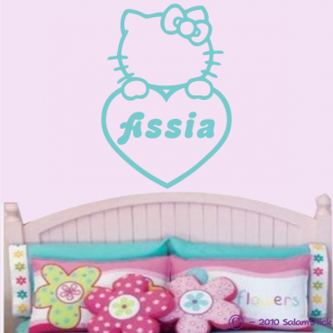 Sticker Kitty coeur