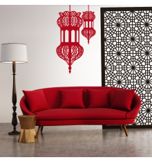 Sticker double lanternes orientale