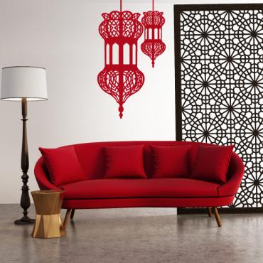 Sticker double lanternes orientale