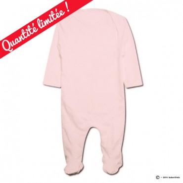 Pyjama bio personnalisable rose